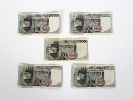 "Five Italian Banknote ""Banca d"