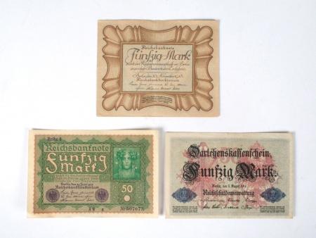 Three German Banknotes - IB04827