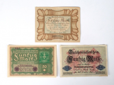 Three German Banknotes - IB04828