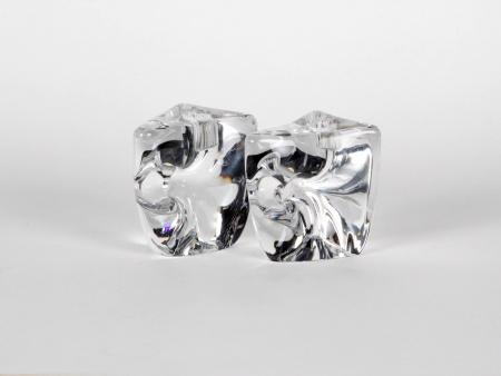 Pair of Daum Crystal Candlesticks - IB04965