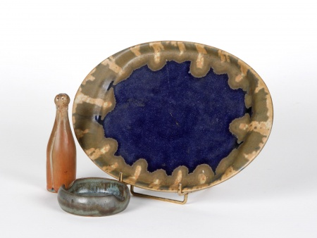 Dish, Shaker and Ashtray in Sandstone. Early 20th Century - IB04973