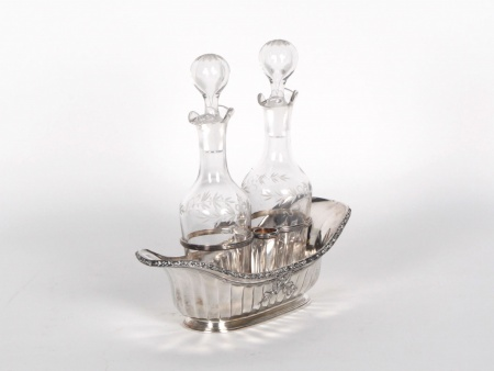 Gallia Cruet in Silver Plated Metal. Early 20th Century - IB04978