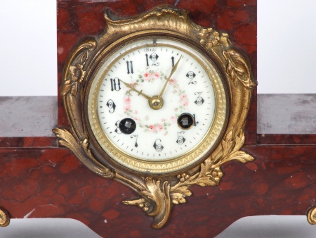 Marble and Bronze Clock. 19th Century - IB05005