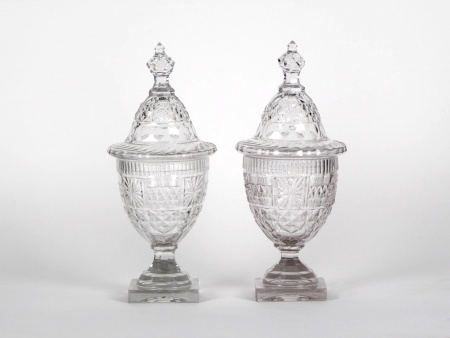 Pair of Candy Bowls in Baccarat Crystal - IB05040