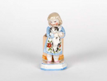 Porcelain Sculpture: Young Girl and a Puppy - IB05064