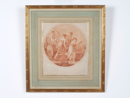 "English ""Sanguine"" Engraving of the 19th Century - IB05171"