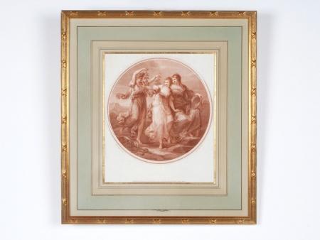 "19th Century, English ""Sanguine"" Engraving - IB05172"