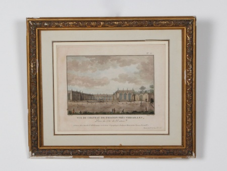 Old French Watercolored Engraving - IB05177