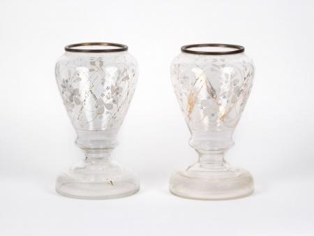 Pair of Glass Vases. 19th Century - IB05228