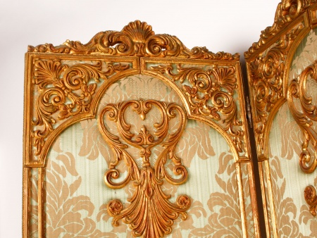 Large Louis XV Style Panel Screen - IB05239