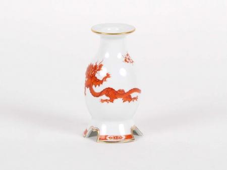 Meissen Red Ming Dragon Candlestick - IB05349