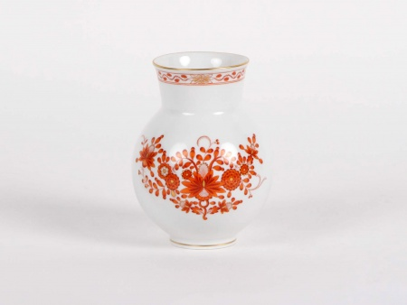 Meissen Indian Red Pattern Vase - IB05353