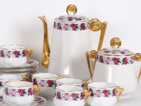 Limoges Art Deco Tea Set - IB05367