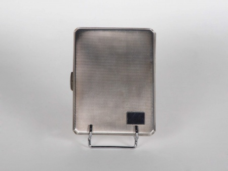 Sterling Silver Cigarette Case in English M. M. Co. Lo. - IB05405