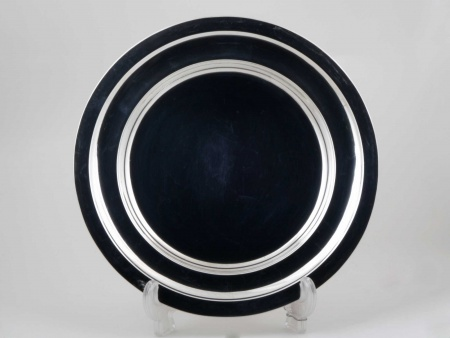 Round Plate in Silver Plated Metal - IB05435