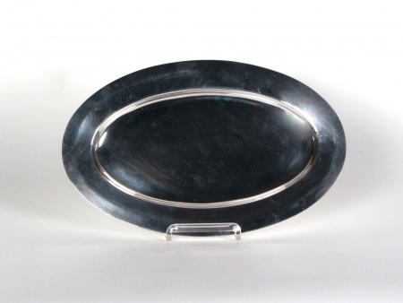 Oval Platter in Silver Plated Metal - IB05436