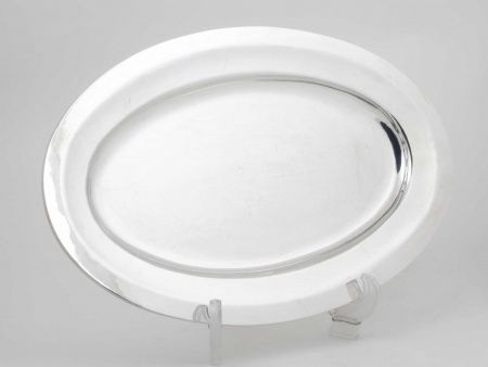 Oval Platter in Silver Plated Metal. Christofle Model - IB05437