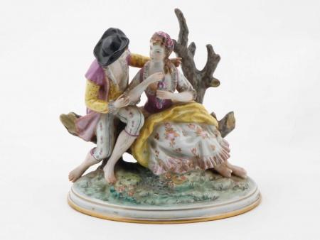 Dresden Porcelain Group. 19th Century - IB05534