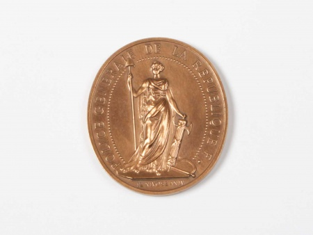 Bronze Large Medal Ministry of Interior - IB05687