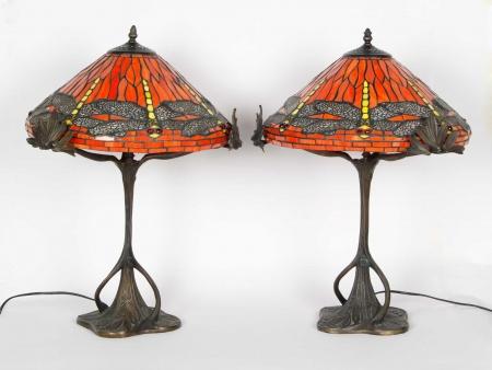 Tiffany Model Pair of Table Lamps - IB05722