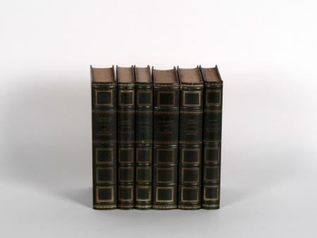 Six Classic Books with Leather Binding - IB05762