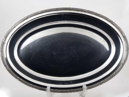 Oval Silver Plated Metal Platter - IB05820