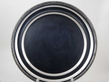 Silver Plated Metal Round Platter - IB05823
