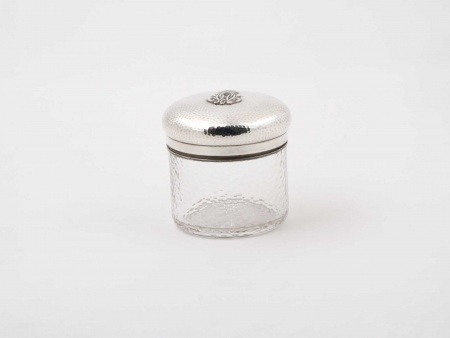 Napoleon III Crystal and Sterling silver Pot. 19th Century - IB05850