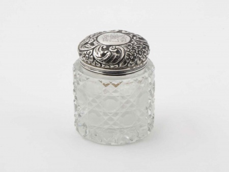 Mary Chawner Victorian Silver Mounted Jar - IB05852