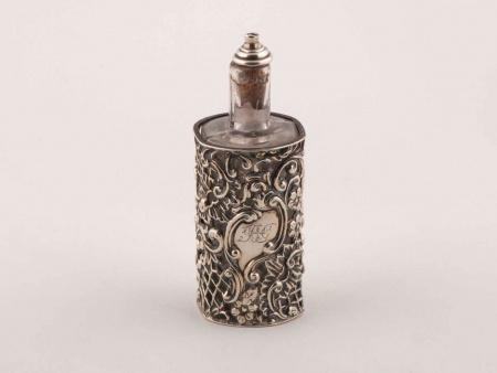 Henry Matthews Victorian Silver Scent Bottle - IB05856