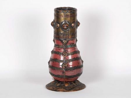 Large Copper Glazed Ceramic Vase. Beginning of the 20th Century - IB05886