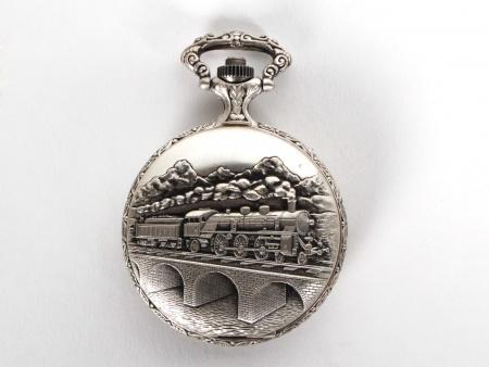 Algex Silver Plated Metal Pocket Watch - IB05912