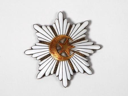 Vermail and Enamel Ottoman Star Shaped Medal - IB05918
