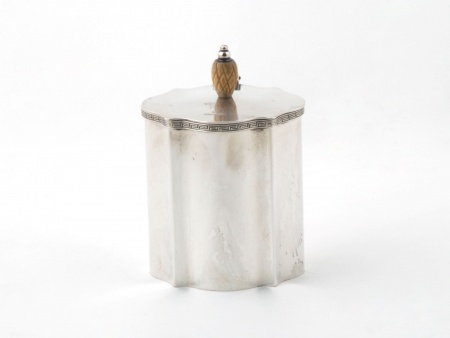 Engish Tea Box in Silver Plated Metal - IB05921