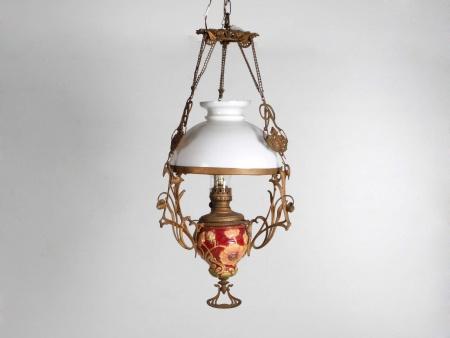 Art Nouveau Lantern in Ceramic and Opaline. Circa 1890. - IB05961