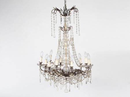 19th Century Portieux Cut Crystal Chandelier - IB05963