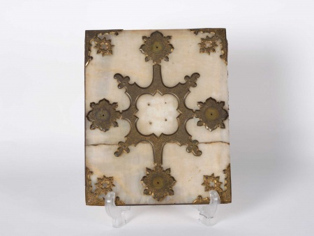 Book Cover in Alabaster and Copper. 18th Century - IB05967