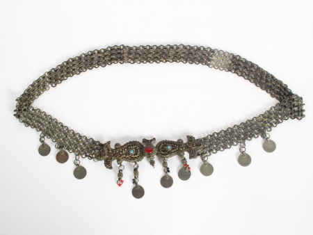 Ottoman Belt in Copper inlaid with stones. - IB05984
