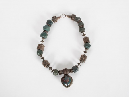 Necklace in Silver and stones. 19th Century - IB06047