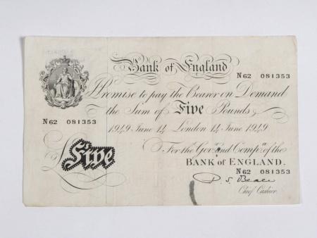 English Bank Note of 5 Pounds - IB06070
