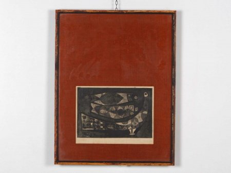 """Lithograph """"Abstract Drawing"""" - IB06093"""