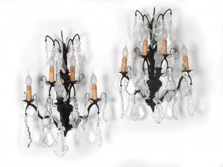 Pair of Large Bracket Lamps. Europe. 20th Century - IB06126