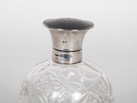 Large Silver Mounted Bottle by Collett & Anderson - IB06168
