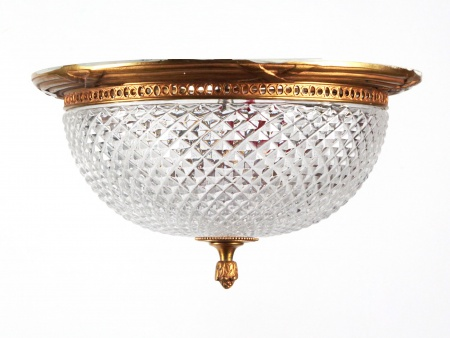 Bronze and Crystal Ceiling Lamp - IB06219
