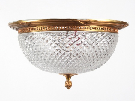 Bronze and Crystal Ceiling Lamp - IB06220