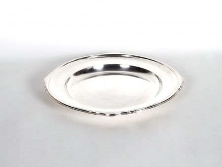 Silver Plated Metal Mappin & Webb Plate - IB06246