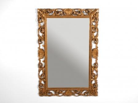 Florentine Wooden Mirror, Beginning 20th Century - IB06315