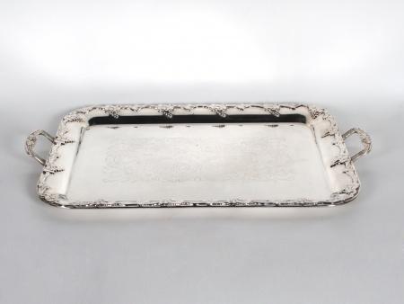 Swedish Silver Plated Metal Tray - IB06477
