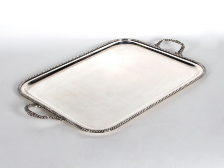 Durer Silver Plated Metal Tray - IB06478
