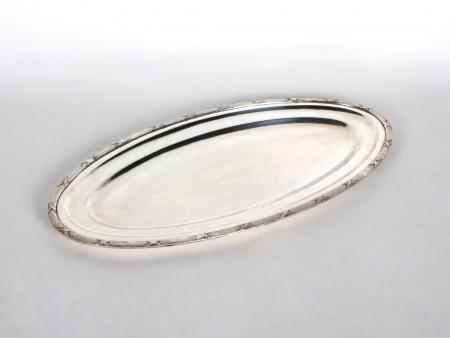 Silver Plated Metal Oval Platter - IB06507